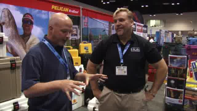 Lynn Burkhead and Mark Davis, host of 'Penn's BigWater Adventures' on Outdoor Channel, discuss how to enhance the already-incredible performance of super coolers. The key to prolonged ice retention is to pre-chill the cooler before adding all the contents.